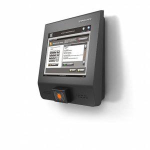 Информационные киоски: Информационный киоск «v.3.0 АV» (RAL 4213 черный + RAL 9022 серый, со сканером и наушниками)